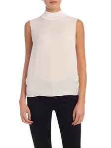 Theory - Silk top in ivory color