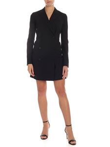 Theory - Wool double-breasted dress in black