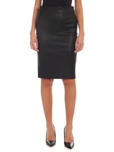 Theory - Black leather skirt