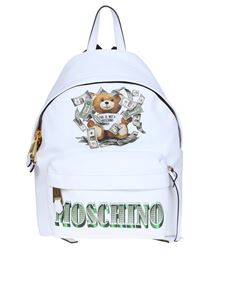 Moschino - Dollar Teddy Bear backpack in white