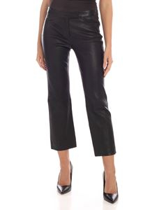 Theory - Black leather trousers