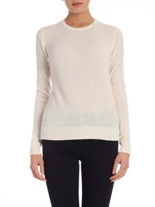 Theory - Cashmere pullover in ivory color