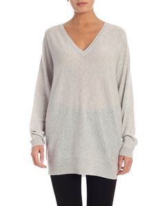 Theory - Cashmere pullover in grey melange color