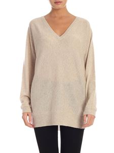 Theory - Cashmere pullover in beige melange color