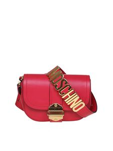 Moschino - Lettering logo belt bag in red