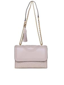 Tory Burch - Fleming Small bag in taupe color leather