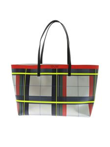 Gum Gianni Chiarini - Tartan pattern shopper bag in silver