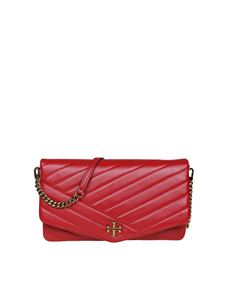 Tory Burch - Kira Chevron bag in red leather