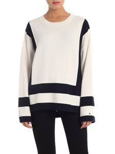 Tommy Hilfiger - Marik pullover in white and blue