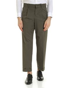 Incotex - Haversack cotton trousers in army green color