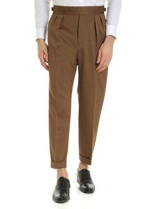 Incotex - Haversack cotton trousers in brown