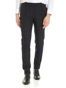 Incotex - Houndstooth print trousers in blue