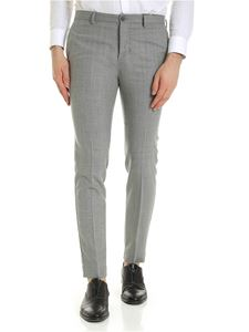 Incotex - Slash pocket trousers in grey melange color