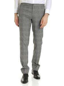 Incotex - Prince of Wales trousers in grey