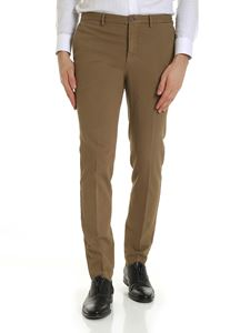 Incotex - Dark beige trousers with slash pockets