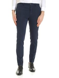Incotex - Blue trousers with slash pockets