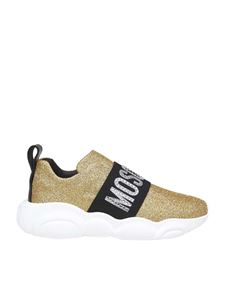 Moschino - Sneakers Teddy in glitter color oro