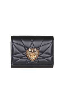 Dolce & Gabbana - Devotion Continental small wallet in matelasse nappa leather