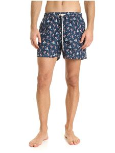 MC2 Saint Barth - Happy Santa swim trunks in blue
