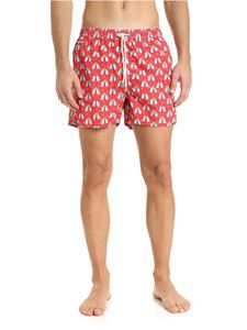 MC2 Saint Barth - Drink Gingle swim trunks in red