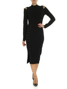 McQ Alexander Mcqueen - Long dress in black with shoulder cut-out