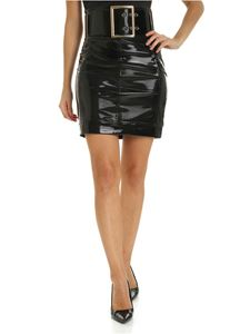 Elisabetta Franchi - Short skirt in black latex