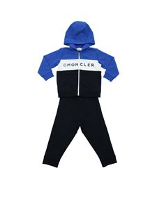Moncler Jr - Blue white and bluette tracksuit