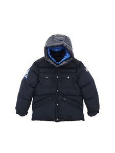 Moncler Jr - Vilbert hooded down jacket in blue