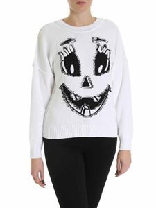 Moschino - Pumpkin Face pullover in white