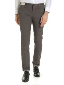 Incotex - Printed trousers in brown