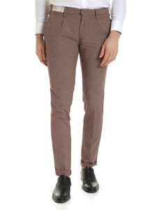 Incotex - Red beige and black houndstooth trousers