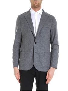 Eleventy - Grey jacket with patches