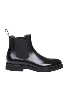 Doucal's - Chelsea in black brushed leather
