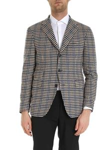 Tagliatore - Houndstooth jacket in ivory color