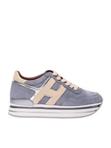 Hogan - Midi Platform sneakers in gray and beige