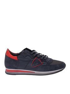 Philippe Model - Tropez sneakers in blue and red