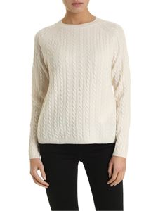 Max Mara - Fleur pullover in ivory white color