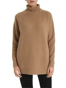 Max Mara - Disc pullover in camel color