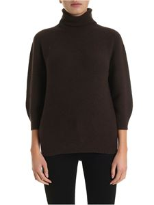 Max Mara - Pullover collo alto Etrusco marrone
