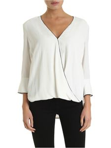 Elisabetta Franchi - White blouse with black detail
