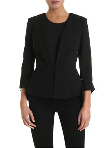 Elisabetta Franchi - Bows on the cuffs jacket in black
