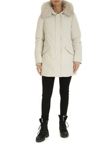 Woolrich - Luxury Artic down jacket in ivory color