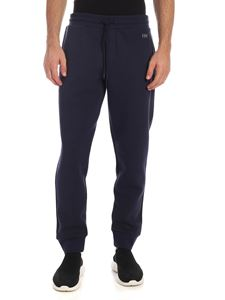 Fay - Rubber logo trousers in blue