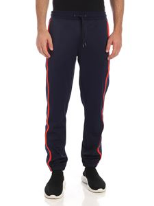 PS by Paul Smith - Logo embroidery trousers in blue