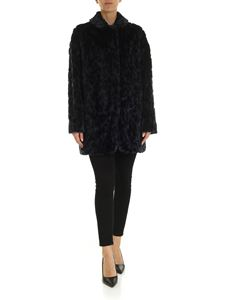 PS by Paul Smith - Leopard pattern eco fur in blue and black