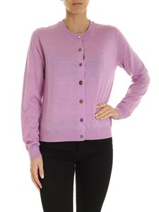 PS by Paul Smith - Unpaired buttons cardigan in lilac