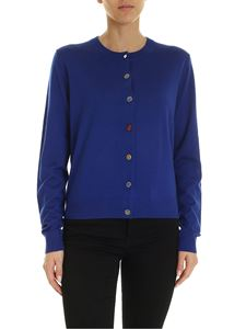 PS by Paul Smith - Unpaired buttons cardigan in blue