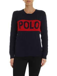 POLO Ralph Lauren - Inlay and maxi logo pullover in blue