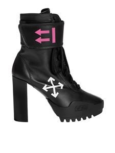 Off-White - Stivaletti Heeled Moto neri