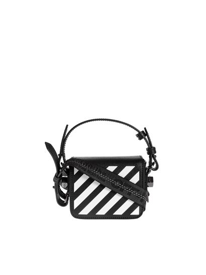 Off-White - Diag Baby bag in black and white